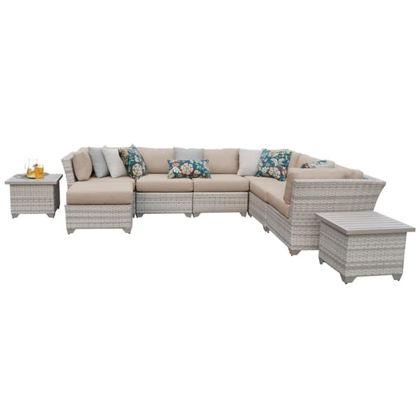 Fairmont Patio Furniture.Shop Fairmont 9 Piece Outdoor Wicker Patio Furniture Set 09c Free