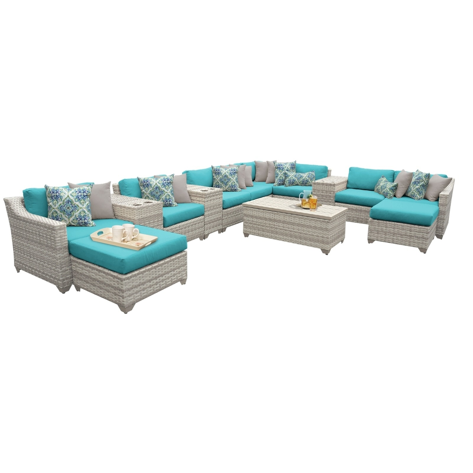 Fairmont Patio Furniture.Details About Fairmont 14 Piece Outdoor Wicker Patio Furniture Set 14a