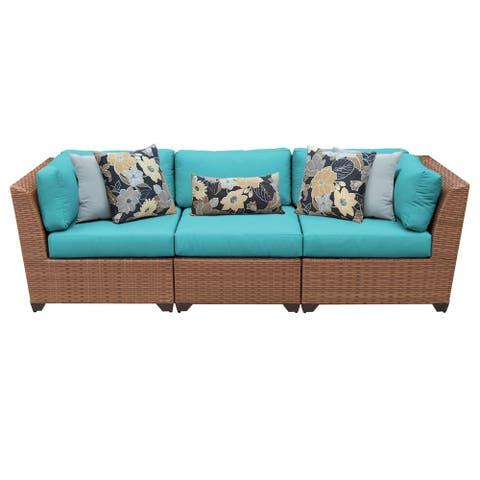 Laguna 3 Piece Outdoor Wicker Patio Furniture Set 03c