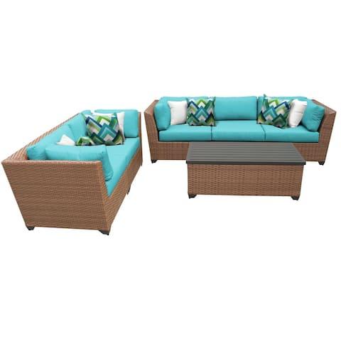 Laguna 6 Piece Outdoor Wicker Patio Furniture Set 06p