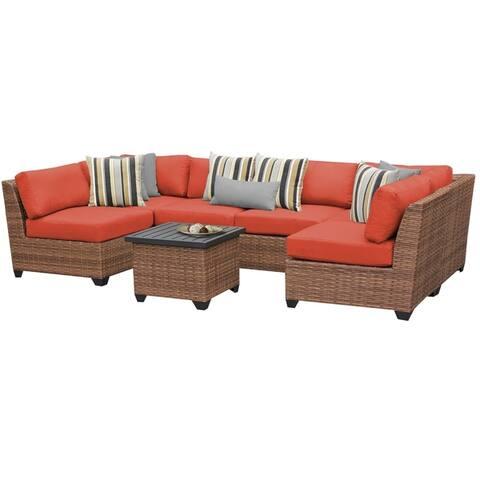 Laguna 7 Piece Outdoor Wicker Patio Furniture Set 07c