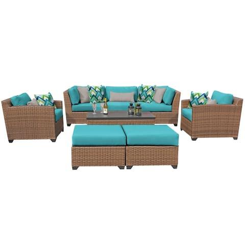 Laguna 8 Piece Outdoor Wicker Patio Furniture Set 08c
