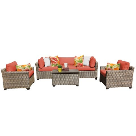 Monterey 6 Piece Outdoor Wicker Patio Furniture Set 06b