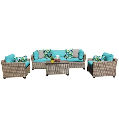 Monterey 6 Piece Outdoor Wicker Patio Furniture Set 06b