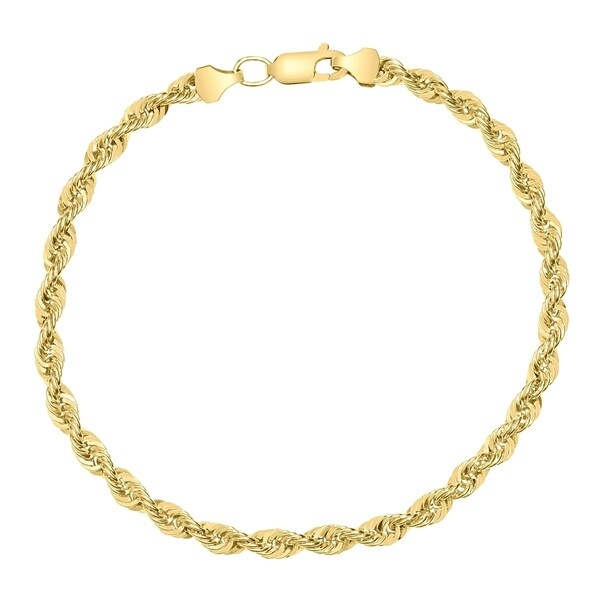 5bae0390f725a Shop 14K Yellow Gold Filled 4.5MM Rope Chain Bracelet with Lobster ...