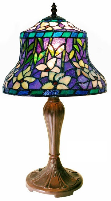 Shop Tiffany Style Blue Table Lamp Free Shipping Today