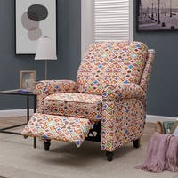 ProLounger Textured Multi Red Push Back Recliner Chair