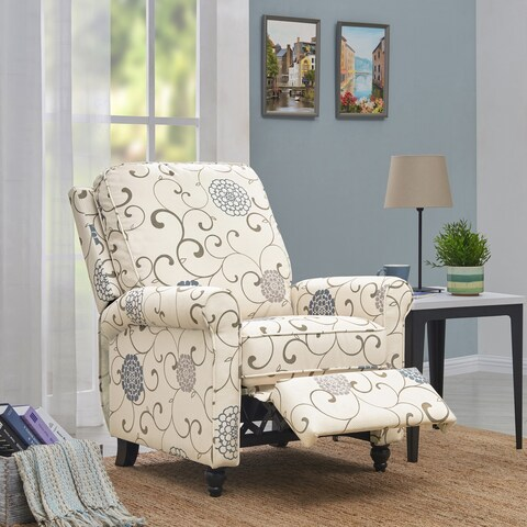ProLounger Textured Floral Push Back Recliner Chair