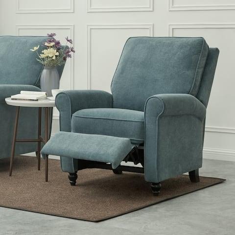 ProLounger Medium Blue Chenille Push Back Recliner Chair