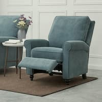 ProLounger Medium Blue Chenille Push Back Recliner Chair