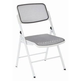 Pro Line White Folding Mesh Seat and Back 2-pack chairs - N/A