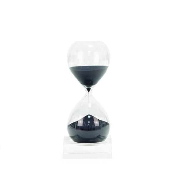 30 Min.Sand Timer on Cristal Base-Navy Sand