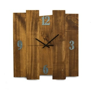 "Barn Rustic Wood Wall Clock, 16""x17"""