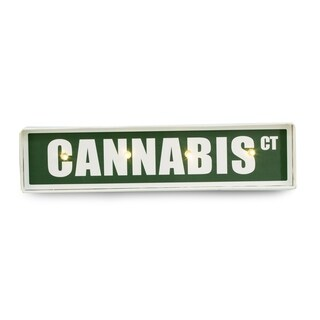 """Cannabis St."" Sign, Lighted"