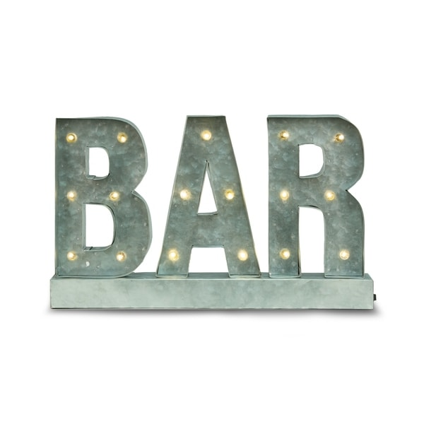 Lighted Metal 'BAR' Sign