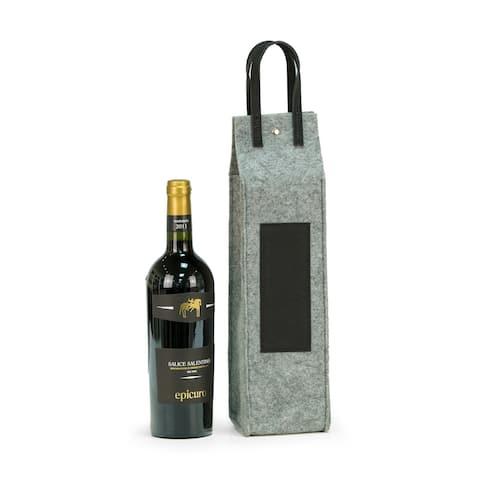 Wine Caddy - Grey Felt/Black Triming