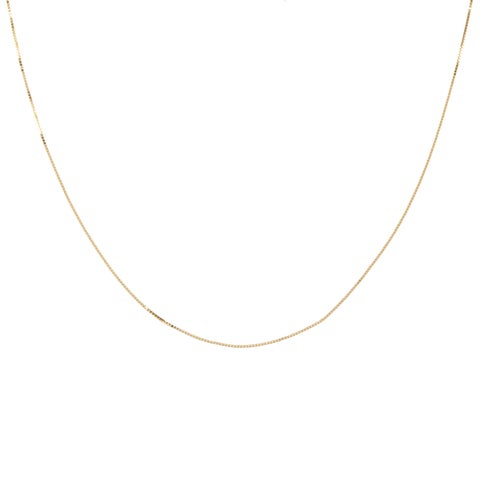 14k Yellow Gold Box Chain Necklace (14-20 Inch)