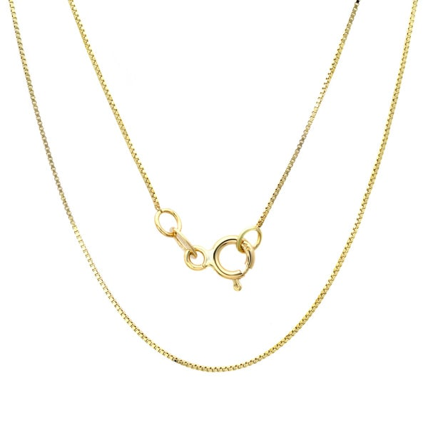 Sterling Essentials 14k Yellow Gold Box Chain Necklace