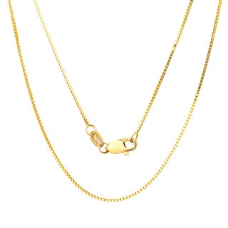 14k Yellow Gold .75 mm Box Chain Necklace (16-24 Inch)