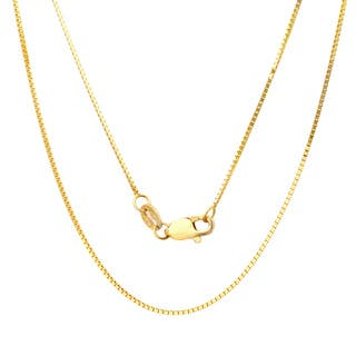 Sterling Essentials 14k Yellow Gold Venetian Box Chain Necklace|https://ak1.ostkcdn.com/images/products/2291046/P10540208.jpg?impolicy=medium