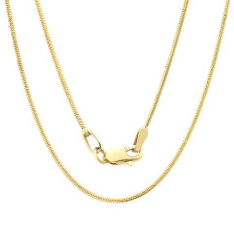 Roberto Martinez 14k Yellow Gold 1 mm Snake Chain Necklace (16-24 Inch)