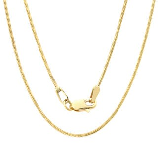 14k Yellow Gold 1 mm Snake Chain Necklace (16-24 Inch)