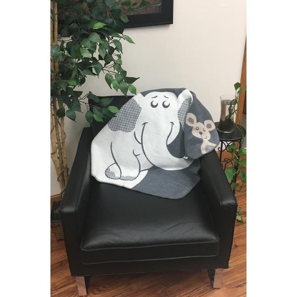 IBENA 'Elephant' Baby Blanket
