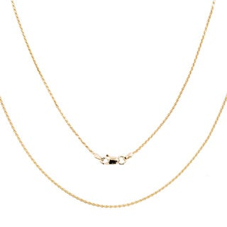 14k Yellow Gold 1 mm Rope Chain Necklace ( 16-30 Inch )