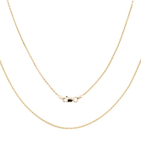 Roberto Martinez 14k Yellow Gold Diamond-Cut Rope Chain Necklace