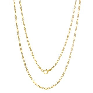 14k Yellow Gold Figaro Necklace (14-24 Inches)