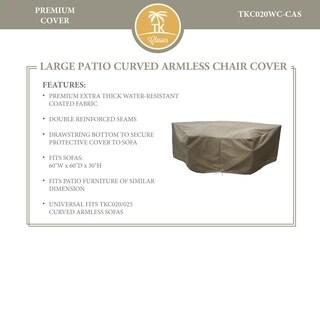 Barbados/Florence/Fairmont/Laguna Curved Armless Sofa Protective Cover
