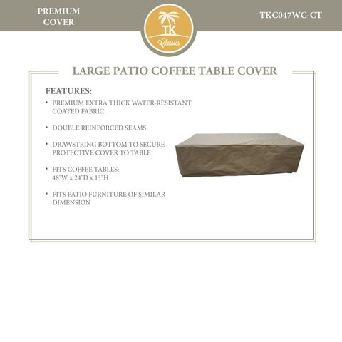 Miami Rectangle Coffee Table Protective Cover
