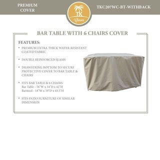 Napa/Oasis/Fairmont Bar Table Set with Barstools Protective Cover