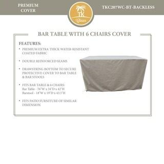 Napa/Oasis Bar Table Set with Backless Barstools Protective Cover