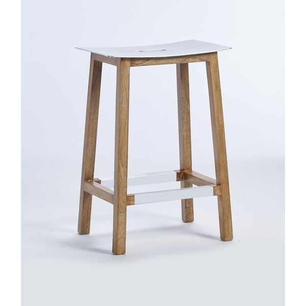 Shop Marvis 26 Inch Aluminum Seat Counter Stool By Kosas