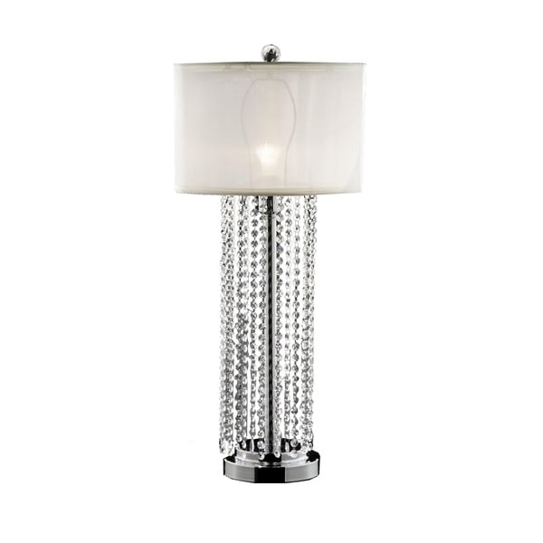 Shop Ok Lighting Simple Elegance Silver Metal And Crystal Beads