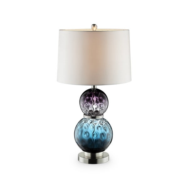 Shop Ok Lighting Odessa Mauve And Aqua Glass Polished Chrome And