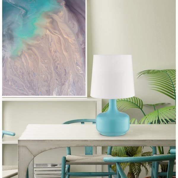 Ok Lighting Cheru Blue Table Touch Lamp