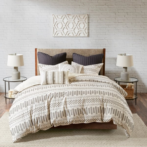 The Curated Nomad Natoma Cotton Jacquard 3-piece Comforter Set. Opens flyout.