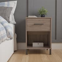 Avenue Greene Harvest Point Distressed Gray Oak Nightstand