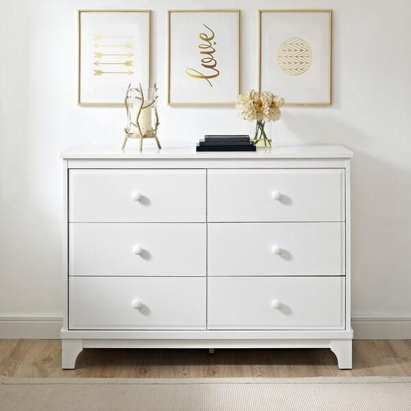 Avenue Greene Crescent White 6 Drawer Dresser