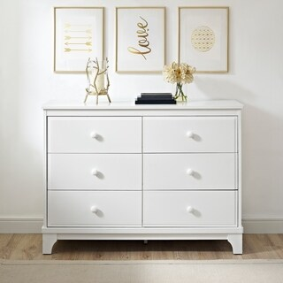 Avenue Greene Crescent White 6 Drawer Dresser
