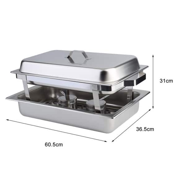Shop 6 Pack Catering Chafing Dish Sets Stainless Steel Buffet