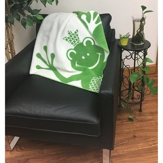 IBENA 100% Cotton Froggy Baby Blanket