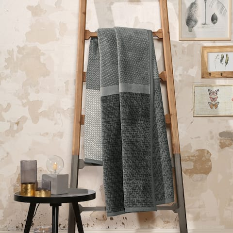 IBENA Cotton Blend Throw Darwin 'The Grey'