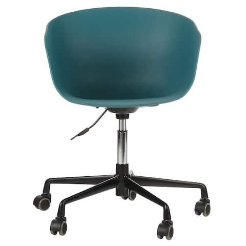 Danish Mid-Century Modern Office Chair with Black Aluminum Frame