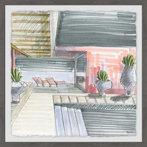 Handmade Apartment Sketch Framed Print