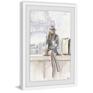 Handmade Chillin at Paris II Framed Print