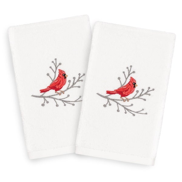 e9655b84 Authentic Hotel and Spa Turkish Cotton Cardinal White Set of 2 Hand Towels