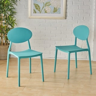 Gleneagle Indoor Plastic Chair (Set of 2) by Christopher Knight Home